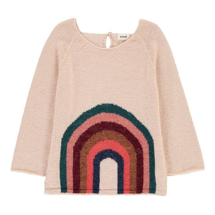 Oeuf NYC Rainbow Alpaca Wool Baby Jumper-product