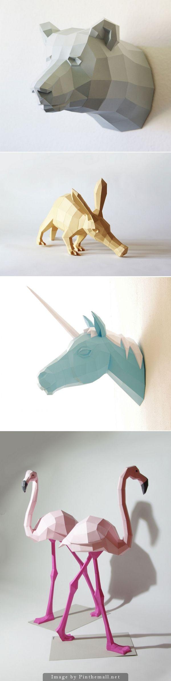 Geometric paper sculptures by Wolfram Kampffmeyer