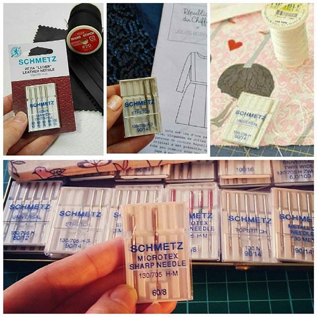 tipos de agujas para máquinas de coser domésticas