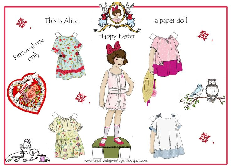 Clearly Vintage: paper dolls
