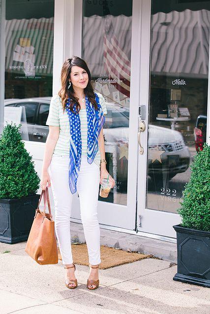 mint stripes / cobalt polka dots / white / tan :: member @Kendi Everyday