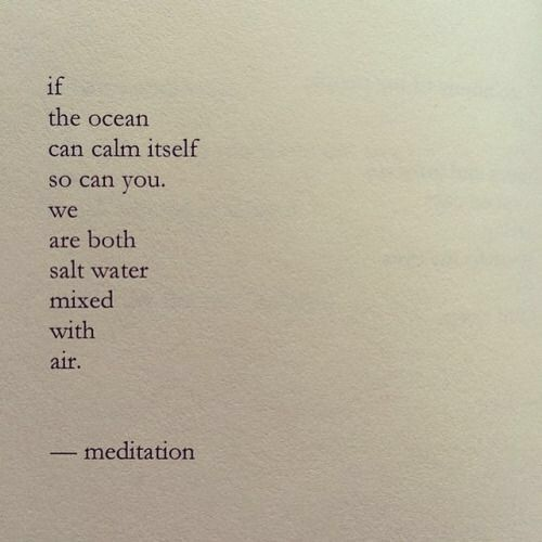 If the ocean can