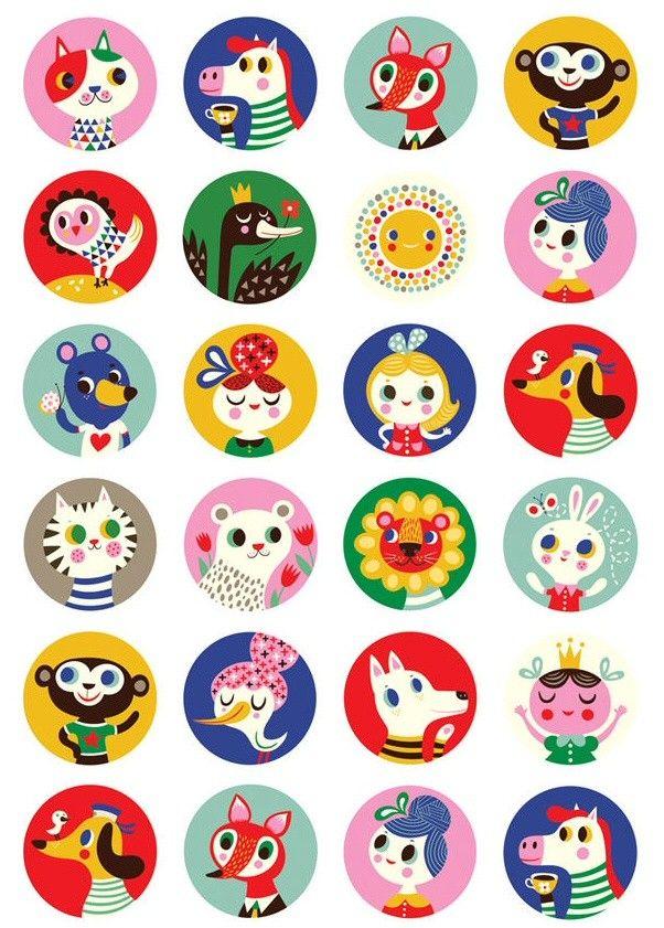 Helen Dardik stickers 200 pcs | PSikhouvanjou
