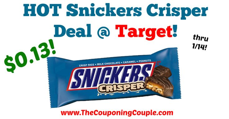 LOVE this deal!!! HOT Snickers Crisper Deal @ Target!  Click the link below to get all of the details ► http://www.thecouponingcouple.com/hot-snickers-crisper-deal-target/ #Coupons #Couponing #CouponCommunity  Visit us at http://www.thecouponingcouple.com for more great posts!