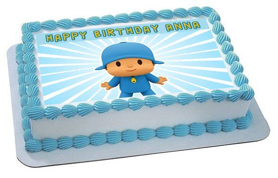Pocoyo 2 Edible Birthday Cake OR Cupcake Topper – Edible Prints On Cake (EPoC)