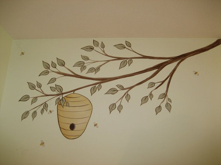Winnie the pooh murals and classic on pinterest for Classic pooh wall mural