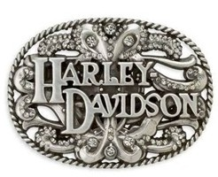 Love this Harley belt buckle! http://www.planetharley.com/Harley-Davidson-Women-s-Floral-Crystal-Buckle-p/99400-11vw.htm