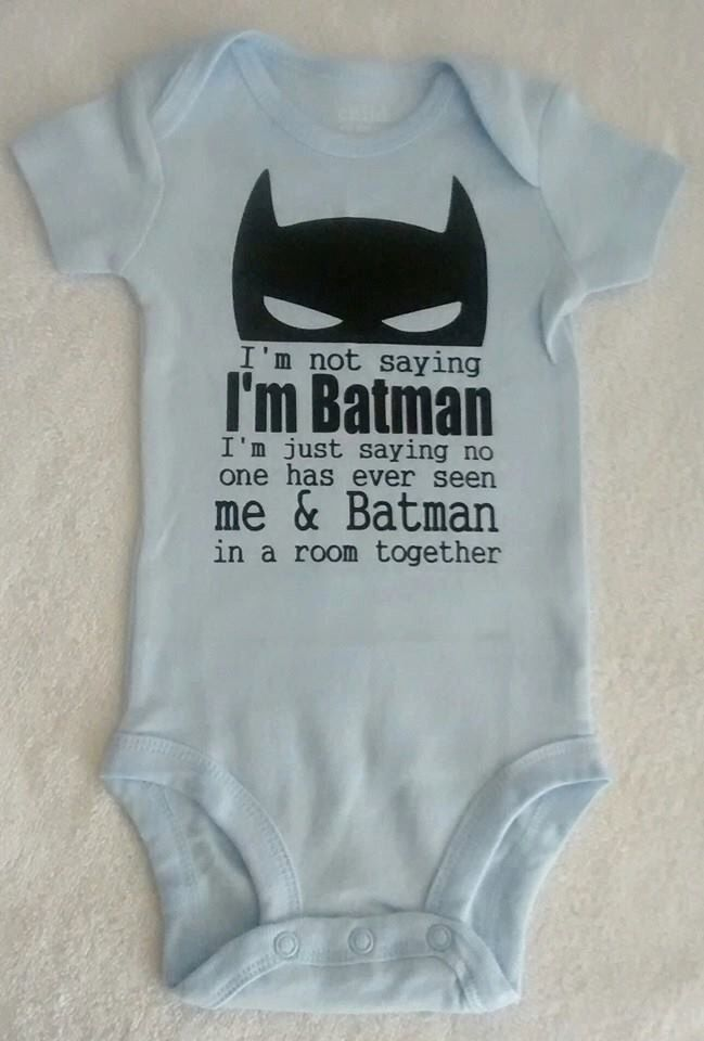 Batman onesie for babies - multiple color choices! by TutuLittles on Etsy https://www.etsy.com/listing/218367226/batman-onesie-for-babies-multiple-color