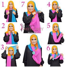 Scarf Sweethoney: Hijab Tutorial - all tutorial