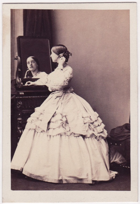 Lady Florence Cecelia Paget, seen here at age 18, daughter of the 2nd Marquess of Anglesey, photographed by  Camille Silvy of London, October 26, 1860