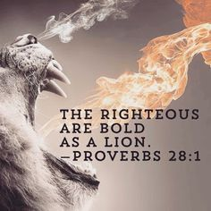 Proverbs 28:1 The wicked flee when no man pursueth: But the righteous are bold as a lion.