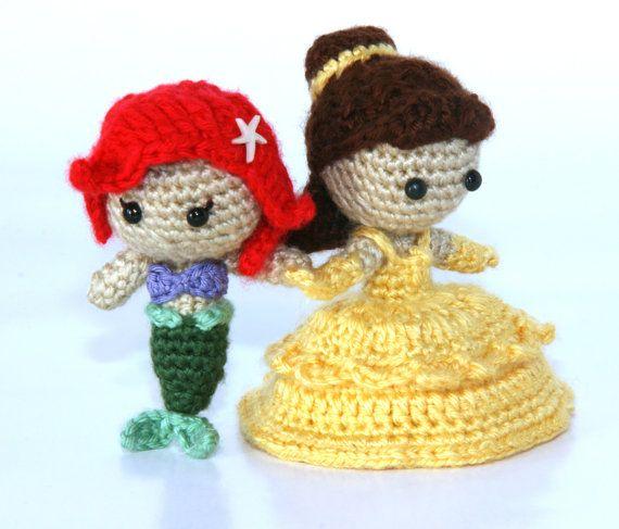 Amigurumi Star Wars Deutsch : PATTERN Instant Download Ariel Mermaid Crochet Doll ...