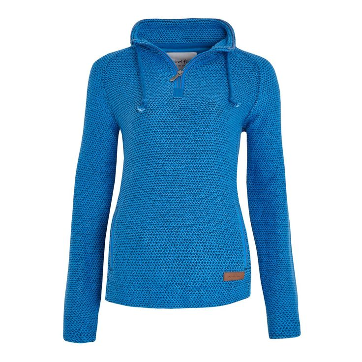Geranium 1/4 Zip Classic Macaroni Sweatshirt Mid Blue
