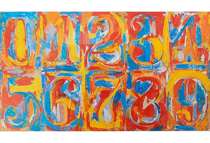 Jasper Johns, Zero-Nine, 1958/59 on One Kings Lane today
