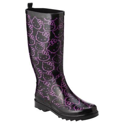 Innovative Chooka Women39s Hello Kitty Punk Buttons Rain Boot B0018D9DAG 7495