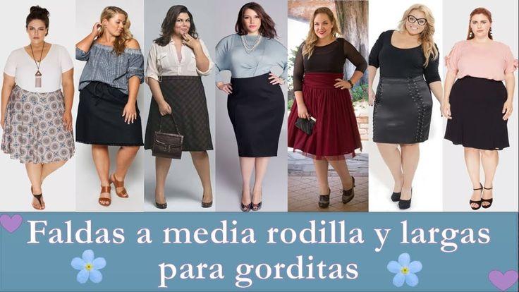 Faldas a Media Rodilla y largas ✿MODA PARA GORDITAS♥