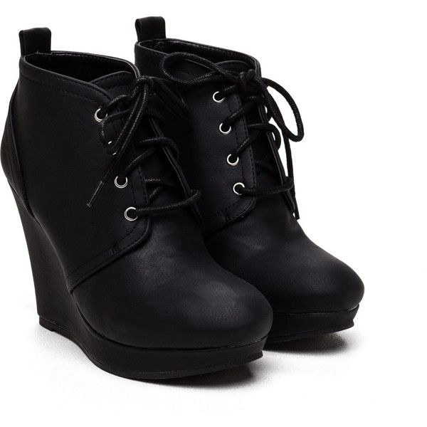 1000  ideas about Wedge Heel Boots on Pinterest | Black leather ...