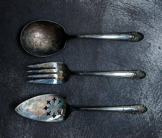 Silver plate Serving Set Of 3