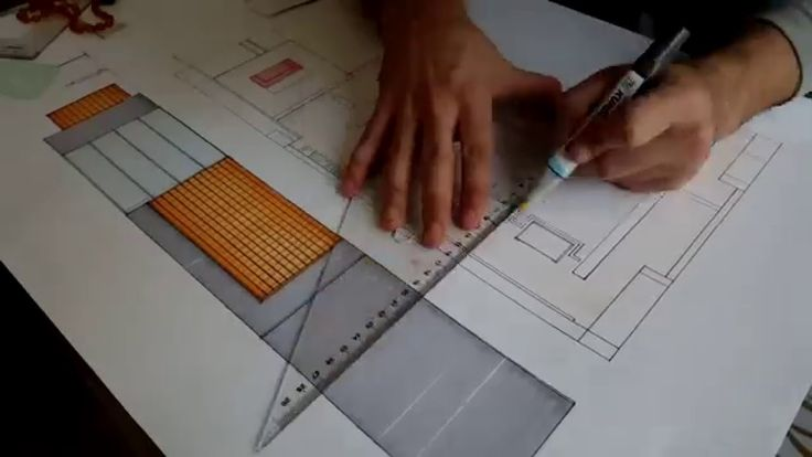 How draw architectural plans with markers