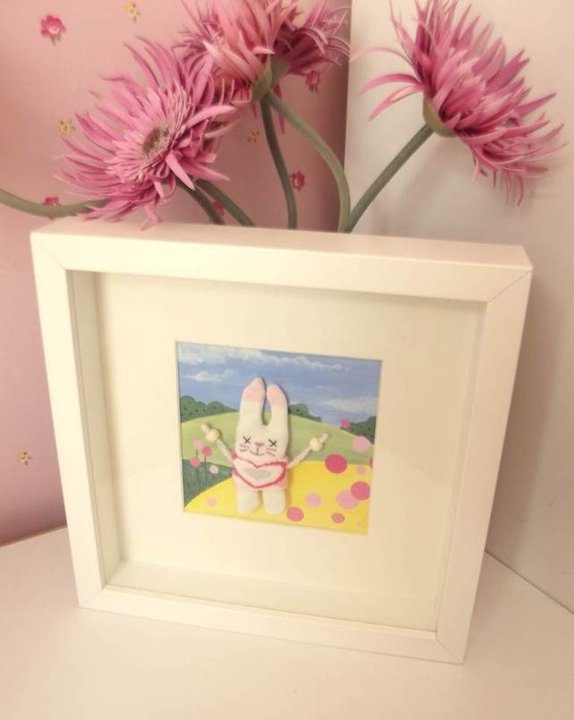 Bunny hands up 3d nursery picture. £35.00