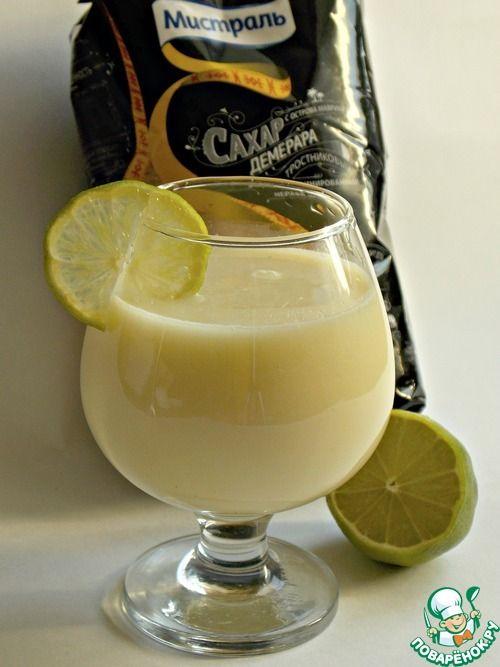 """Бразильский лимонад.... Ингредиенты для """"Бразильский лимонад"""": Сахар коричневый (""""Демерара"""" от """"Мистраль"""") — 1/3 стак. Лайм — 2 шт Молоко сгущенное — 2 ст. л. Вода — 2 стак."""