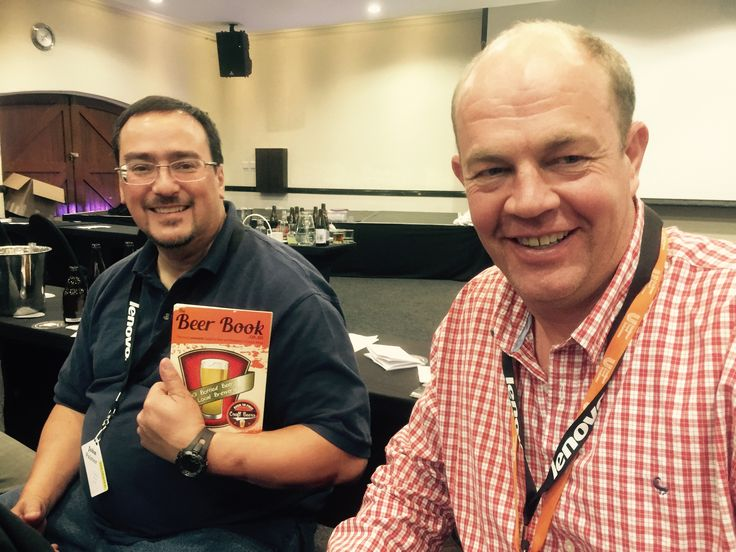 Hanging with John Palmer, author of How to Brew, at Beer Boot Camp. Holger Meier. The Beer Book.