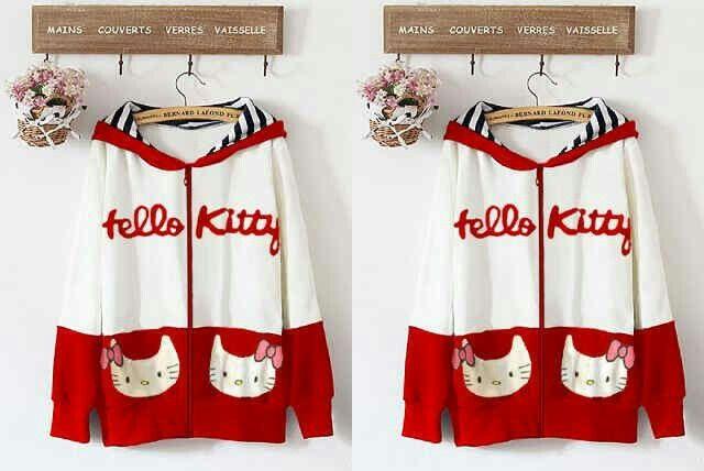 #jaket #hellokitty merah putih @ 105.000