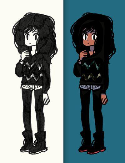 Similar hair and style