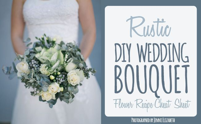 Get this DIY Rustic Wedding Bouquet here - with Kale, Cream or yellow roses, baby Eucalyptus and brunia balls for a Fall or Winter wedding. Pics: Jenni Elizabeth