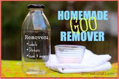 This adhesive remover recipe is a natural homemade goo gone that delivers the same results without all the harsh chemical additives. Use with confidence!