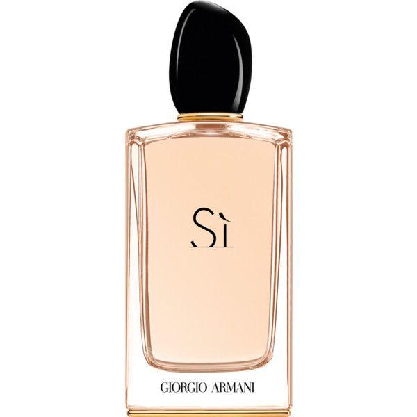Giorgio Armani Si Eau De Parfum found on Polyvore featuring beauty products, fragrance, perfume, giorgio armani, eau de parfum perfume, floral perfumes, giorgio armani fragrances and edp perfume