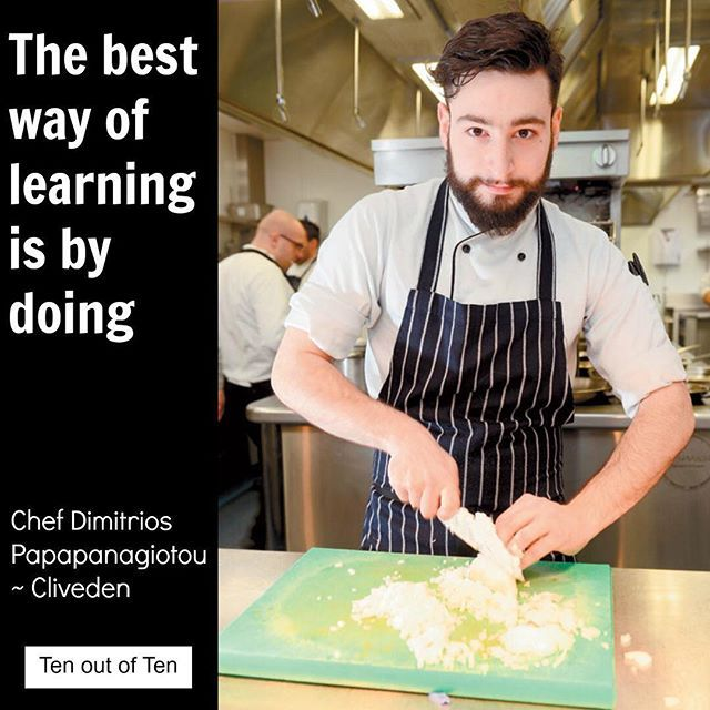 Congratulations to Dimitrios Papapanagiotou chef at @clivedenhouse for reaching the regional final for the 2016 #Roux Scholarship. Great to see young chefs working in our Ten out of Ten properties achieving their ambitions. 10 places are up for grabs on our chef training programme starting Sept - to follow in the footsteps of Dimitrios check out our bio