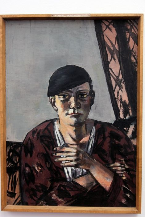 """max beckmann self portrait Felix nussbaum's self in concentration camp (1940), a painting included in the  exhibition """"max beckmann: self-portrait with horn"""" at the neue."""