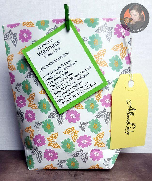 Geschenke für Frauen - 30 Minuten Wellness in der Tüte - Alles Liebe - ein Designerstück von Yvis-Craft-World bei DaWanda