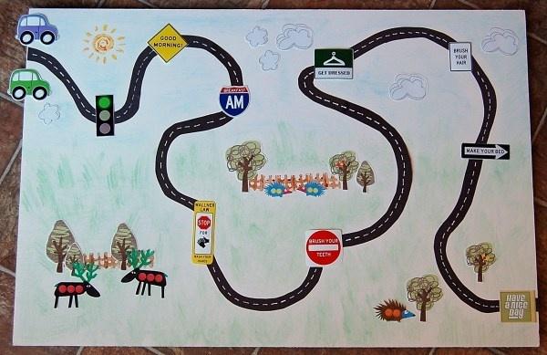 Preschool Morning Chore Chart Charts Roads And Road Maps