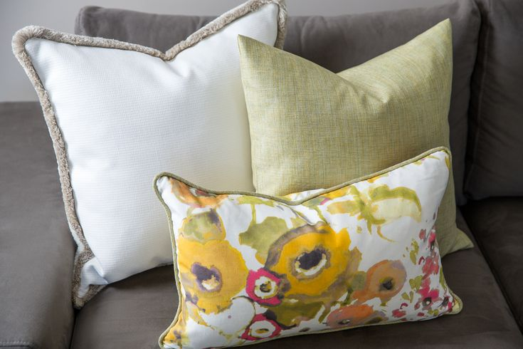 The Bouquet Group of Pillows.  Three pillows perfect for spring.  Includes Romo Trimming, Zimmer + Rohde Fabric, Designers Guild Fabric.  Designer Custom Pillows. Floral Pillows.  Will Ship to US.Designer Bouquet of Pillows