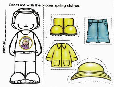 Las ropas de estaciones del año. ~ Educación Preescolar, la revista