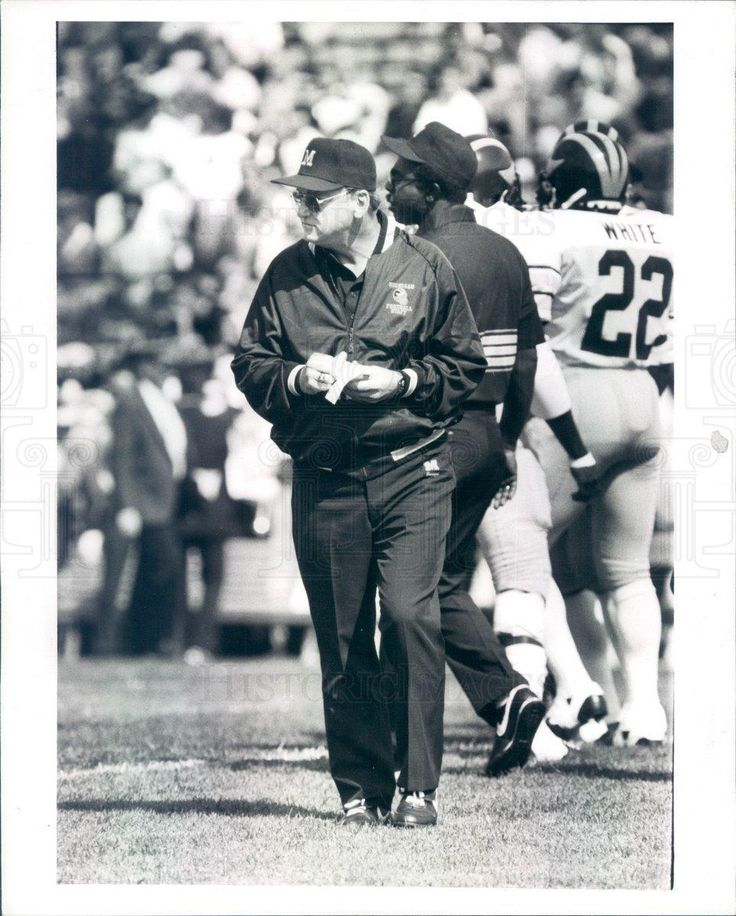 1987 Press Photo Ann Arbor MI Bo Schembechler UM Wolverines FB HOF - rkf13005 | eBay