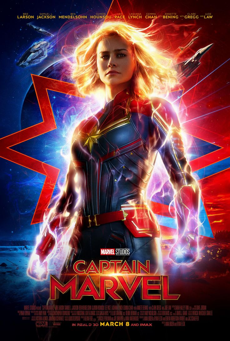 Take A Look at the New 'Captain Marvel' Poster Plus New Trailer Tomorrow During ESPN's Monday Night Football