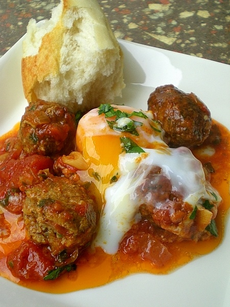 moroccan meatballs adaptd from Rick Stein's recipe