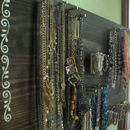 Para colgar tus collares manualidades pinterest - Para colgar collares ...