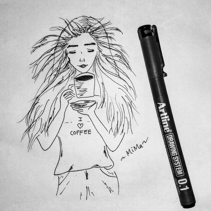 #coffee #girl #sketch