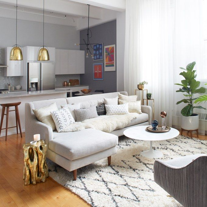 The Stunning Transformation Of A Brooklyn Apartment Living RoomsApartment KitchenApartment