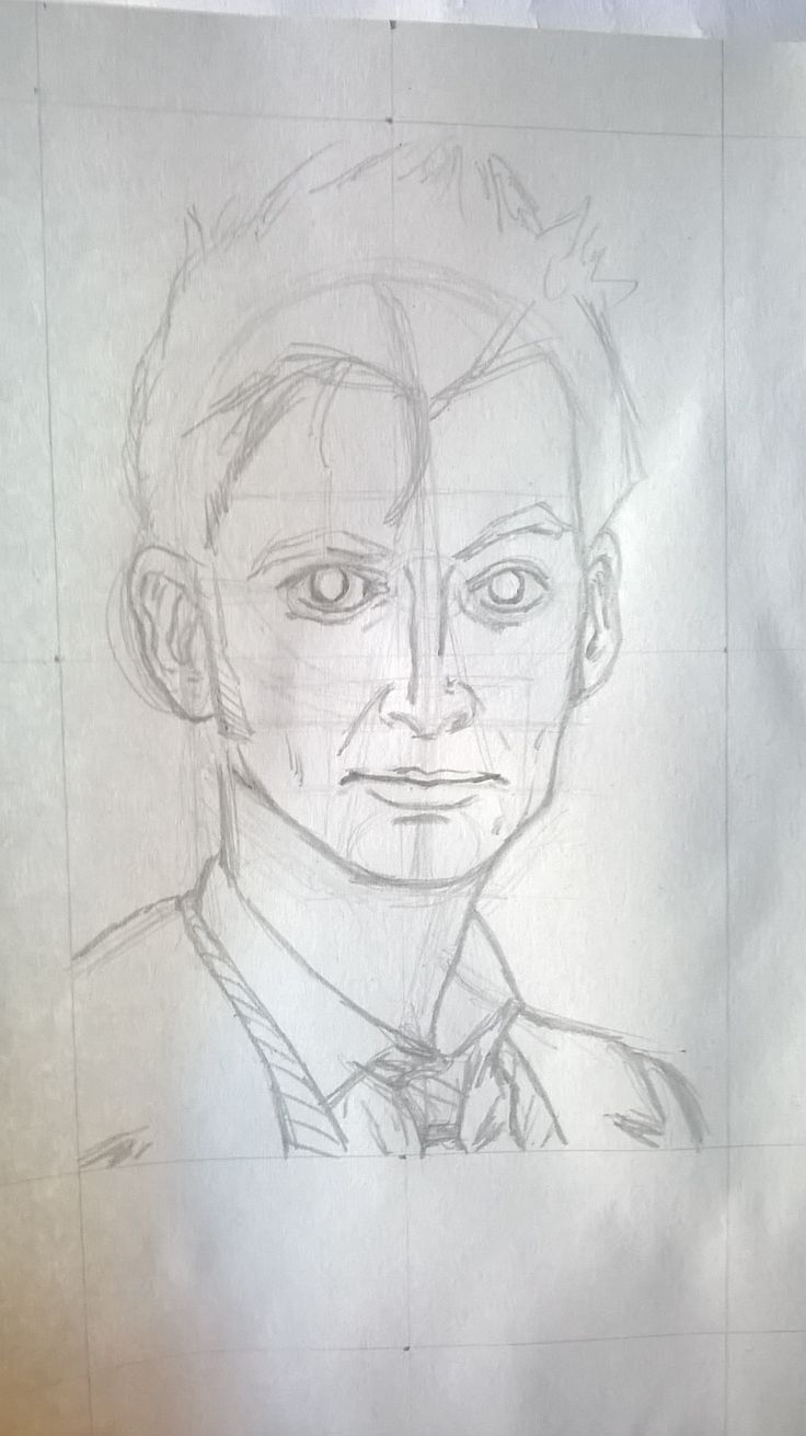Caricatura David Tennant, alias Doctor Who, matita - Drawing of David Tennant, alias Doctor Who, pencil Work in progress