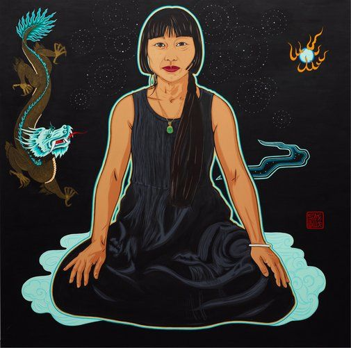 Kate Beynon: Lindy Lee (Year of the Dragon) :: Archibald Prize 2012 :: :: Art Gallery NSW