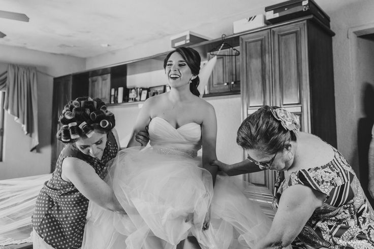 Bride's getting ready