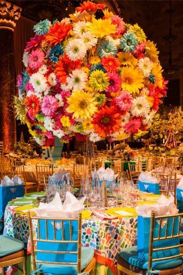 生花だったら凄い!造花と思う ニューヨークのディスプレイ