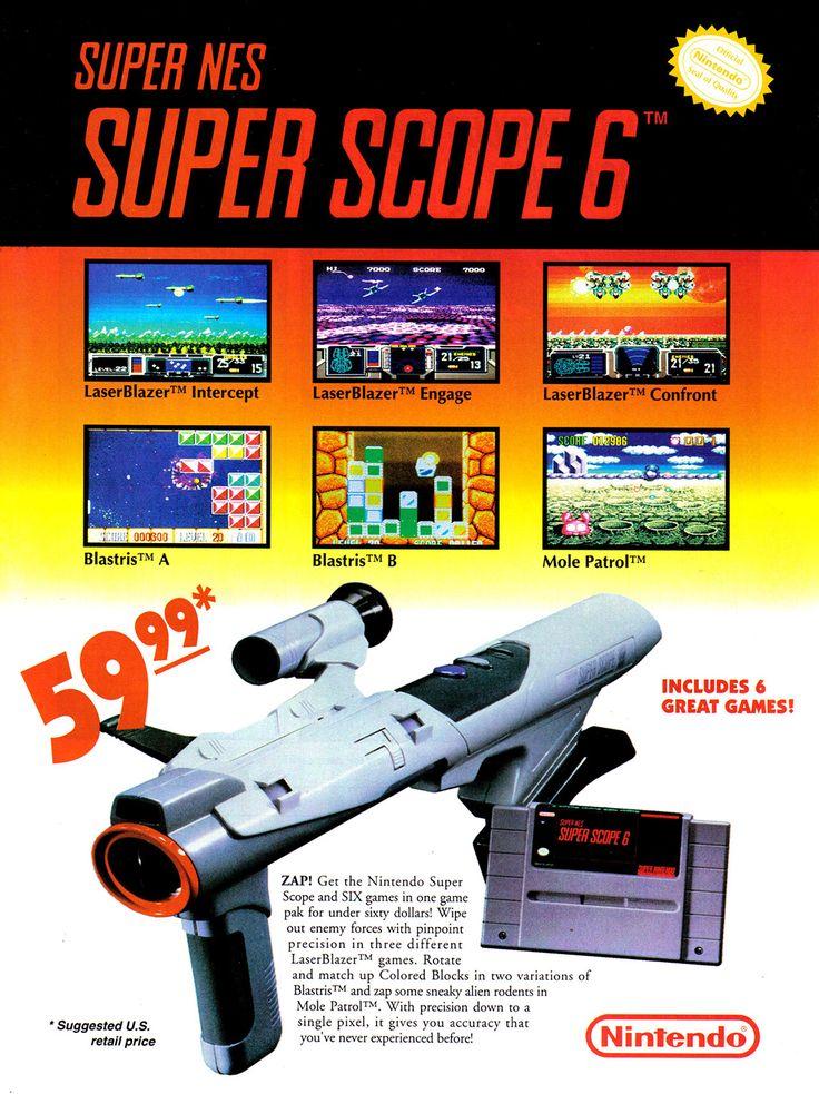 Super Nintendo Ad - Super Scope 6 (Nintendo Power Magazine)