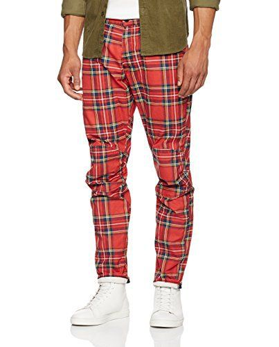 G-Star RAW Men's Trousers Elwood X25 by Pharrell Williams Pantalon G-Star. 5622 3D Model Royal Tartan. Regular waist. Regular shot. The legs are tapered from top to bottom. Button fly. Fine canvas. Print exclusive G-Star.G-STAR RAW Elwood collection by Pharrell WilliamsElwood X25 is available on Amazon in 18 unique designsSpring/Summer Campaign 2017  7 for all mankind, calvin jeans, Diesel, dl1961, Elwood, g-star, GStar, guess jeans, Hollister, Hudson, hudson jeans, j brand