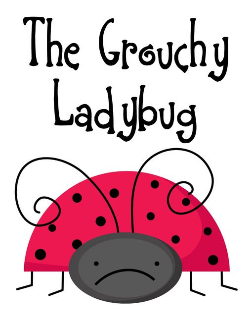 The Grouchy Ladybug Unit and Lapbook Printables ...